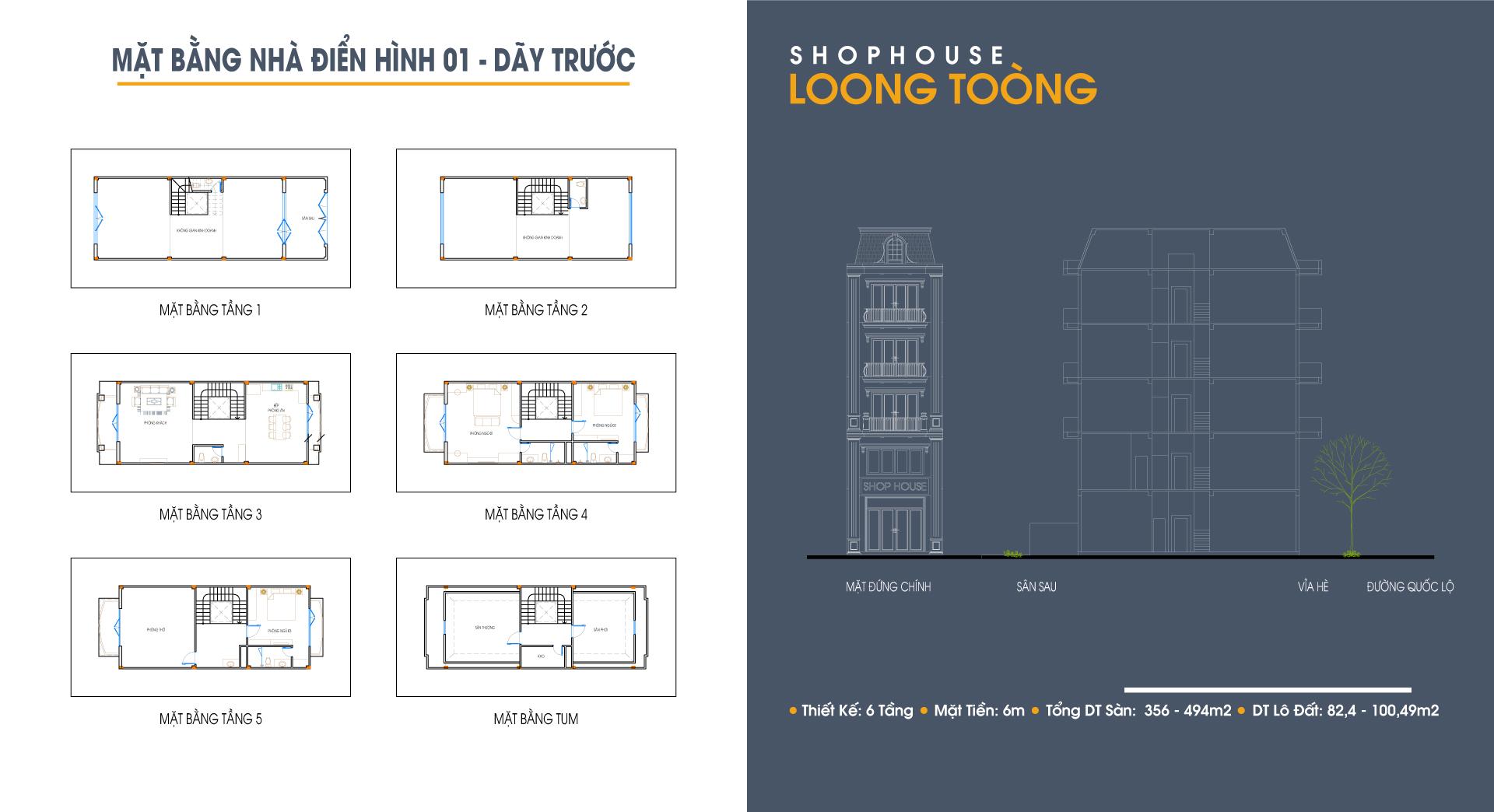 Cơ hội đầu tư nhà mặt phố liền kề Hạ Long: Shophouse Loong Toòng