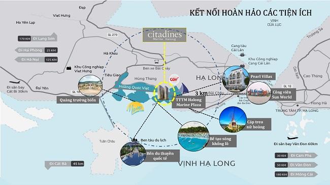 vị trí citadines Hạ Long
