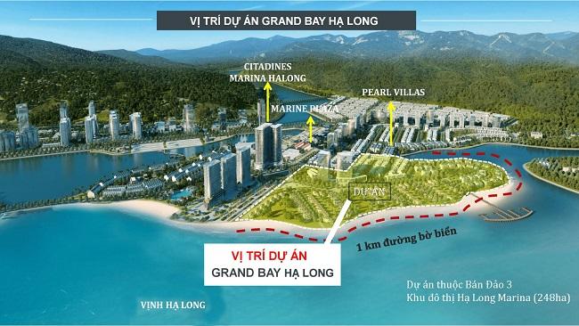 Vị trí điển hình trong Bất động sản biển Hạ Long là dự án Grand Bay Townhouse Halong